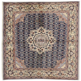 20th Century Persian Bijar Square Rug - 6′4″ × 6′6″ For Sale