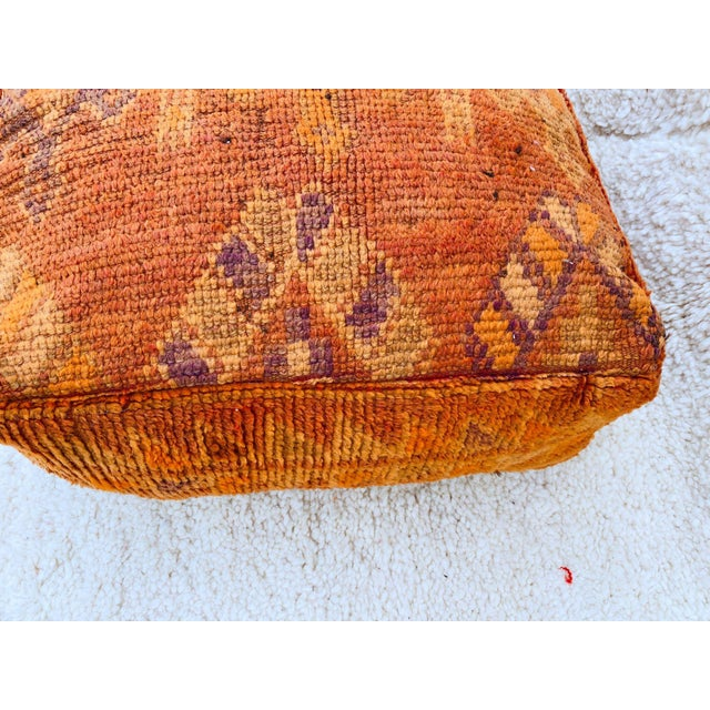 Boujaad Handmade Pouf Cover For Sale - Image 6 of 13