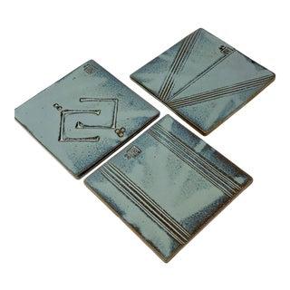 Three Paolo Soleri Ceramic Trivets / Coasters, Cosanti For Sale