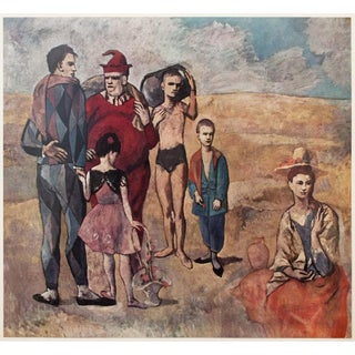"1954 Portraiture Lithograph, ""The Saltimbanques"" by Picasso"