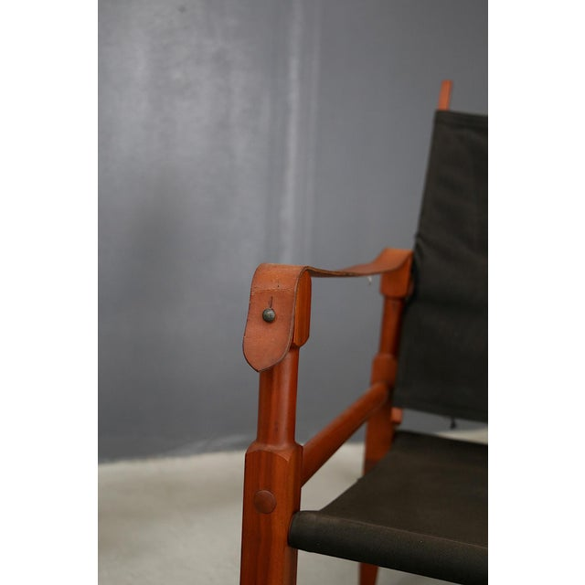1930s Pair of Vintage Safari Chairs by Kaare Klint for Rud. Rasmussen For Sale - Image 5 of 8