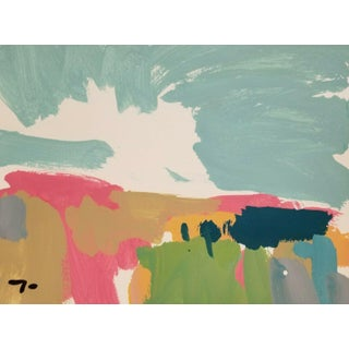 Jose Trujillo Landscape Original Acrylic on Paper Painting For Sale