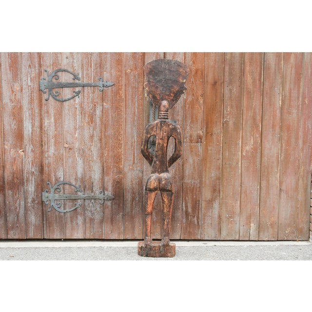Bamum African Large Tribal Statue For Sale - Image 9 of 11
