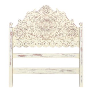 Spanish Colonial Carved Headboard For Sale
