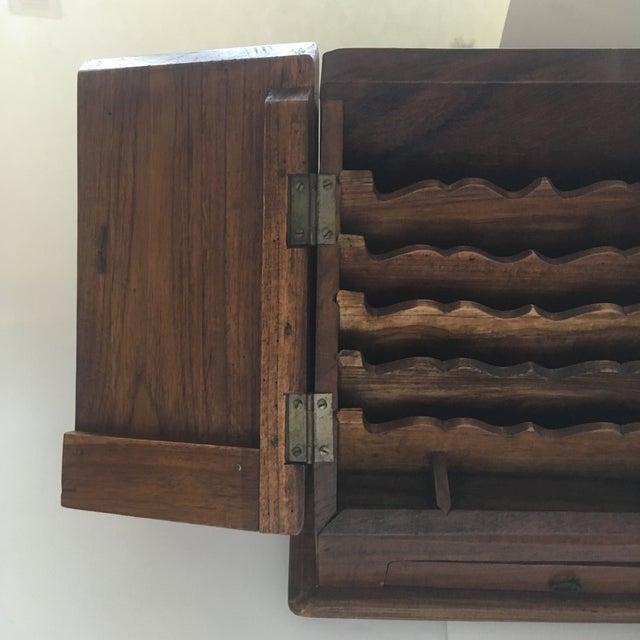Metal Vintage Rustic Wooden Desktop Cabinet Storage Organizer For Sale - Image 7 of 13