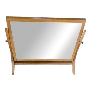 Swivel Oak Frame Floor Mirror