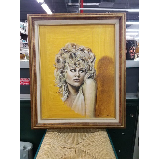 Mid Century Modern Style Original Painting For Sale - Image 5 of 5