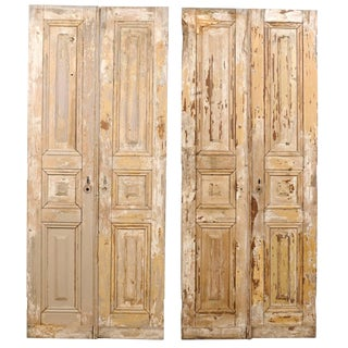 Two Pairs of French 19th Century Wooden Doors For Sale