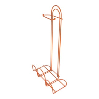 Orange Bathroom Toilet Paper Roll Holder With Magazine Rack