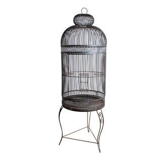 Vintage Iron Birdcage For Sale