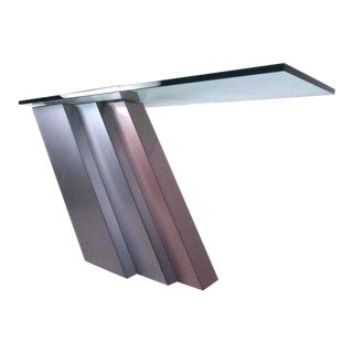 Stylish Modern Cantilever Console Table For Sale