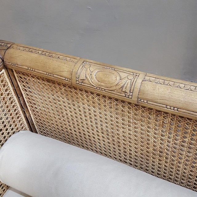 19th Century French Walnut Stripped Louis XVI Sofa For Sale In Dallas - Image 6 of 12