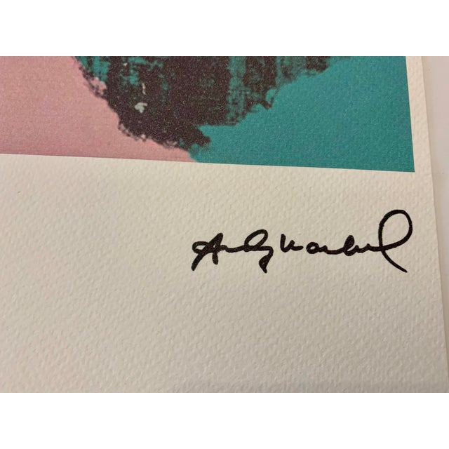 """Turquoise Turquoise Andy Warhol Limited Edition """"Liz, 1964"""" Stone Signed, Numbered, and Authenticated Lithograph For Sale - Image 8 of 12"""