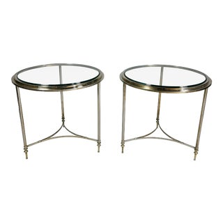Modern Chrome End Tables - a Pair For Sale