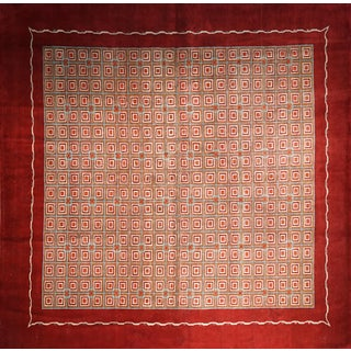 Boccara Hand Knotted Geometrical Artistic Rug - Design N.2 For Sale