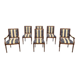 1910s Antique French Louis XVI Dining Chairs - Set of 6 For Sale