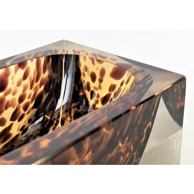 Orange Exquisite Murano Glass Tortoiseshell Bowl by Alessandro Mandruzzato For Sale - Image 8 of 13