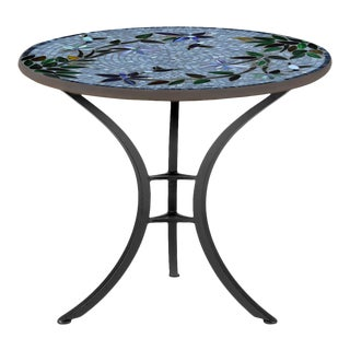 """Royal Hummingbird 30"""" Bistro Table with Black Base For Sale"""