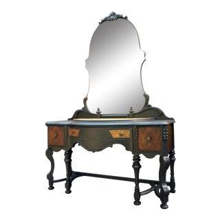 20th Century Art Nouveau Exotic Wood Vanity For Sale