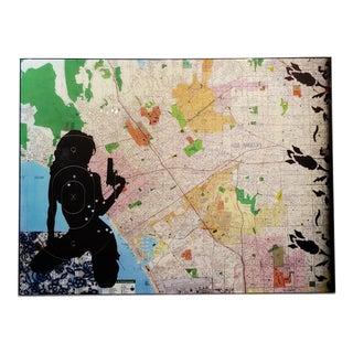 "Ellwood T. Risk ""City of Angeles"" Original Artwork on Panel For Sale"
