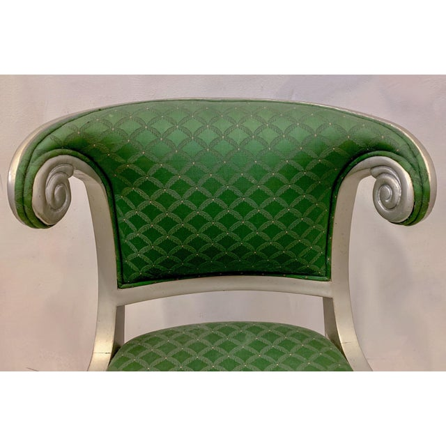 Fabric Set of 8 Casa Stradivari Neo-Classical Klismos Dining Chairs For Sale - Image 7 of 12