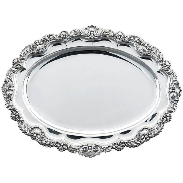 Early 19th Century Paul Storr Regency Silver Meat Dish For Sale - Image 5 of 5