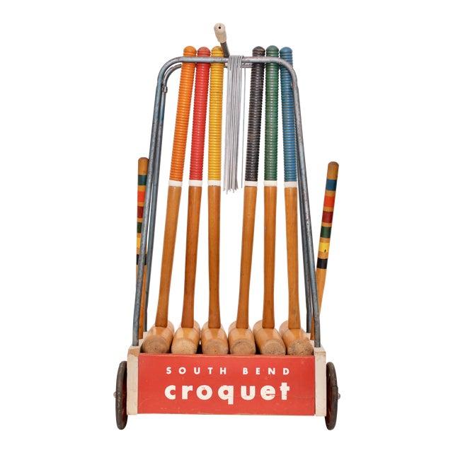 Mid Century South Bend Croquet Set For Sale