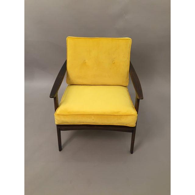 Mid-Century Modern Restored Arm Chair Velvet Cushions - Image 2 of 11