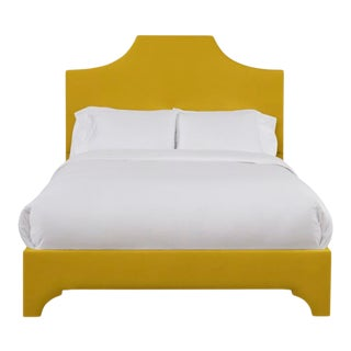 Kit Full/Double Bedframe, Golden Velvet For Sale