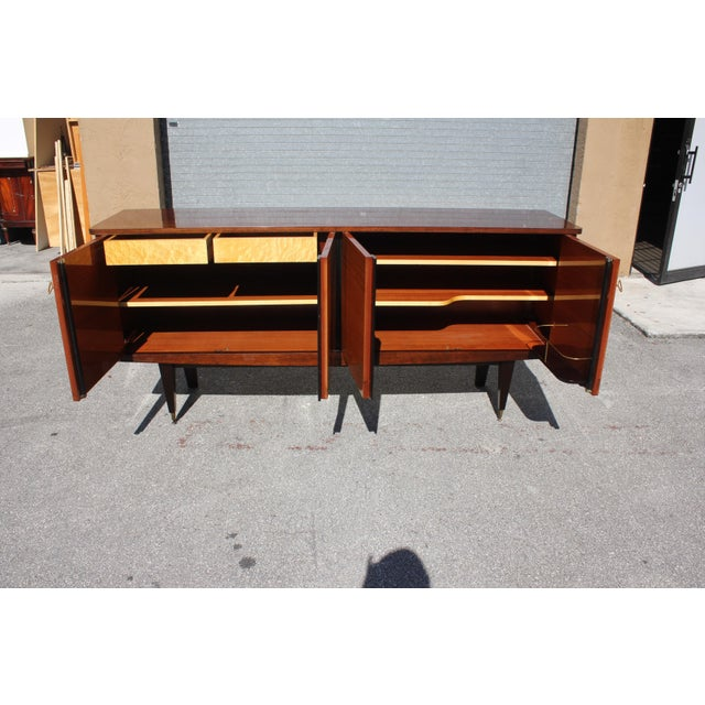 Art Deco 1940s French Art Deco Mahogany Sideboard For Sale - Image 3 of 13
