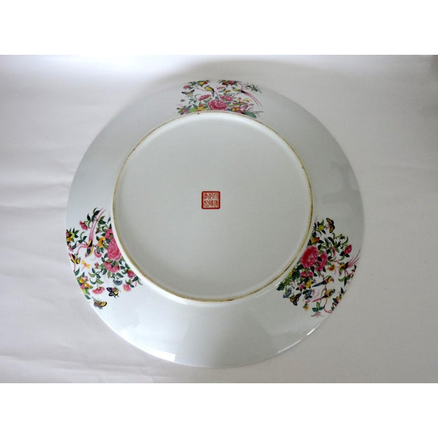 Mid 20th Century Great Qianlong Rose Mandarin 'Chinese Warriors & Horses' Double Sided Charger/Plate For Sale - Image 5 of 9