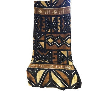 "Superb Lg Bogolan Mali Mud Cloth Textile 63"" by 91"" For Sale"