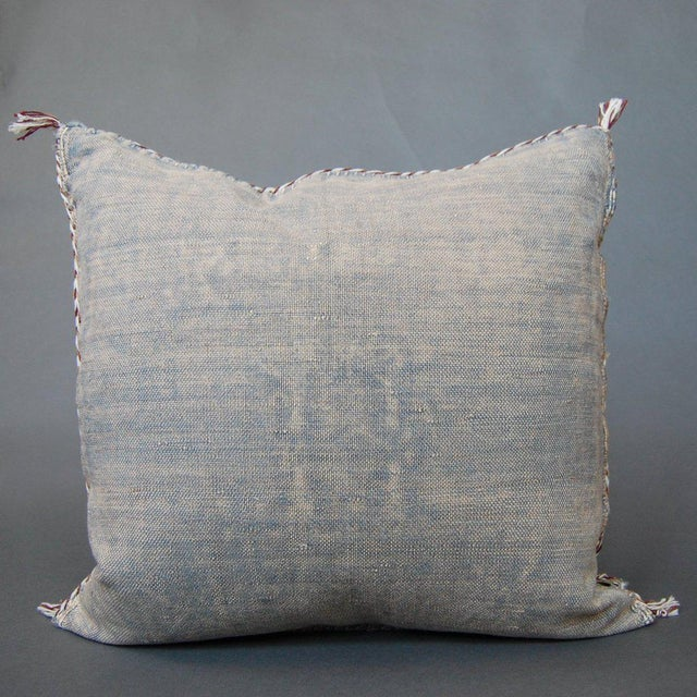 Islamic White Knight' Moroccan Sabra Silk Pillow For Sale - Image 3 of 3