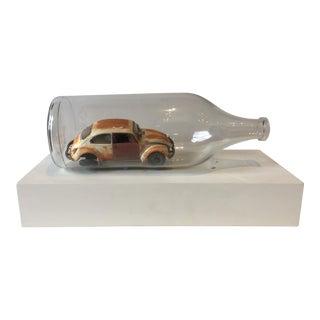 Vintage VW Bug in a Bottle For Sale