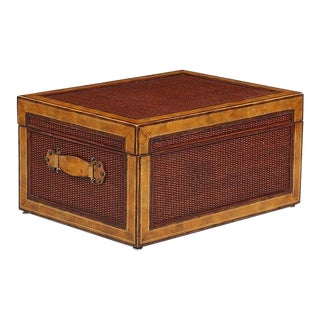Maitland Smith Wood Two Handled Box For Sale