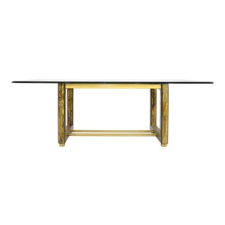 Mastercraft Bernhard Rohne Acid-Etched Brass Table For Sale