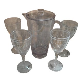 Acrylic Pitcher and Goblets - Set of 5