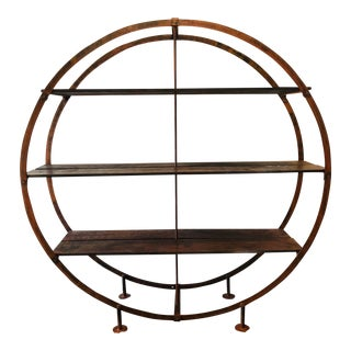 Anthropologie Round Industrial Display Shelf For Sale