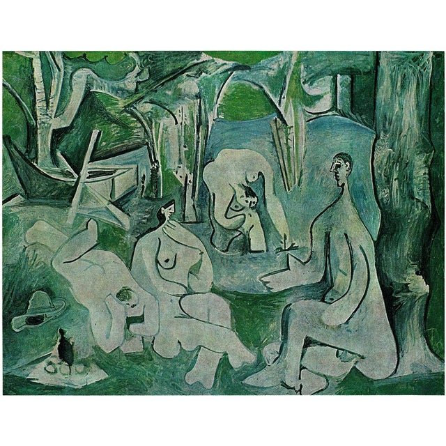 "1971 Pablo Picasso, ""Luncheon on the Grass"" Period Parisian Photogravure For Sale In Dallas - Image 6 of 7"