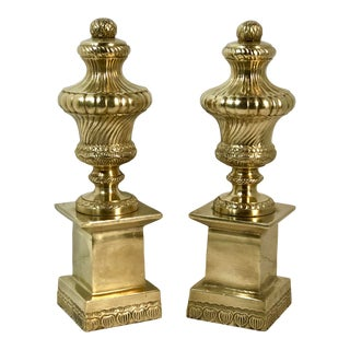 Solid Brass Statues / Obelisk / Book Ends - a Pair For Sale