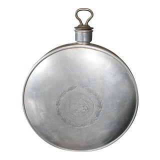 1915 Industrial Style Aluminum Canteen For Sale