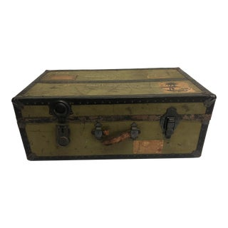 Vintage Industrial Military Foot Locker Trunk - Reading, Pennsylvania For Sale
