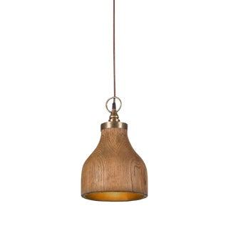 Contemporary Big Sur Wooden Pendant Light - Small