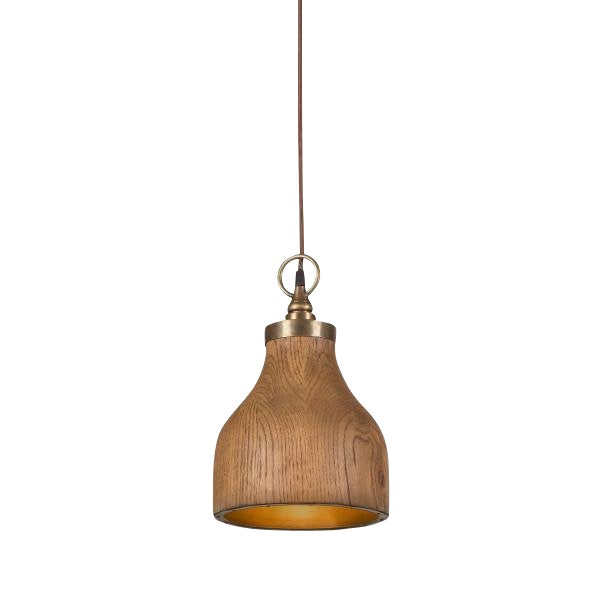 Contemporary Big Sur Wooden Pendant Light - Small For Sale