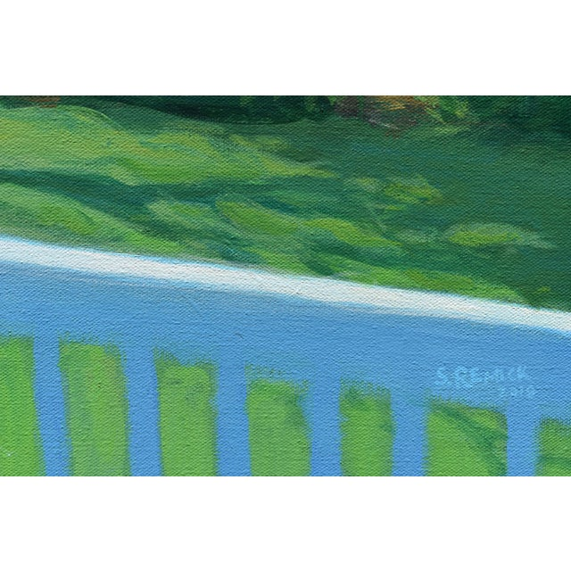 """2010s Contemporary Painting, """"Summer on the Back Deck"""", by Stephen Remick For Sale - Image 5 of 13"""
