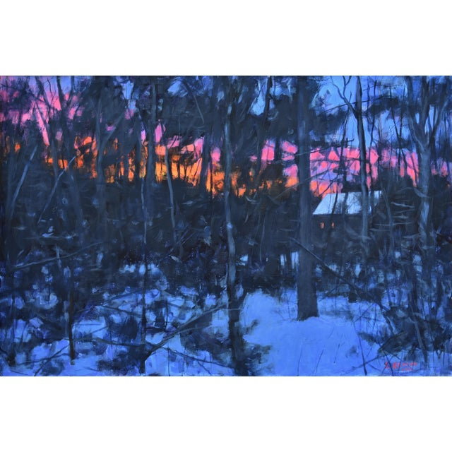 Inspired from walking the dog in the woods in the early morning and coming back home to see a stunning sunrise. This is...