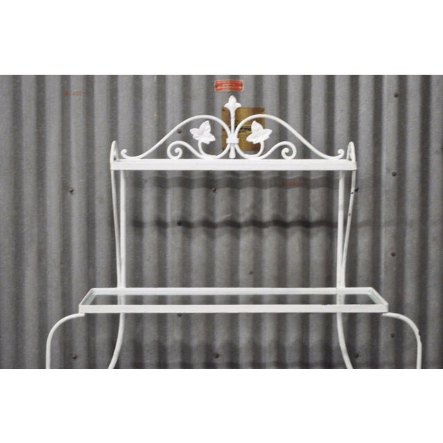 Salterini Vintage Salterini Mt Vernon Pattern Stand Bakers Rack Wrought Iron French Country For Sale - Image 4 of 11