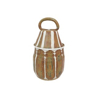Midcentury Art Pottery Jar For Sale