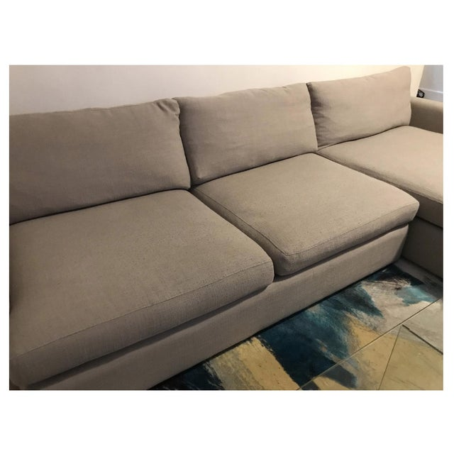 Early 21st Century Crate & Barrel Lounge II 2 Piece Sectional Sofa For Sale - Image 5 of 6