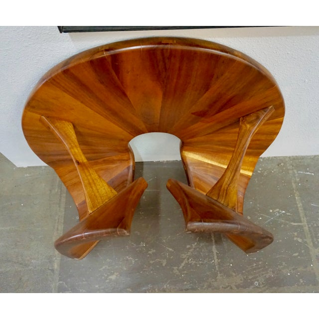 Laminated Walnut Coffee / Side Table For Sale In Palm Springs - Image 6 of 11
